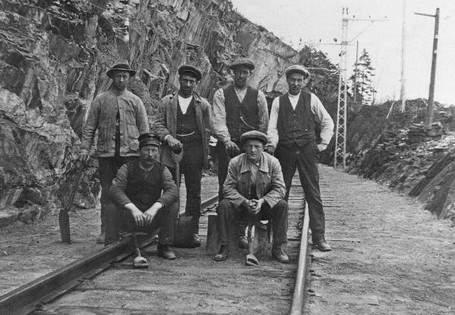 Arbeider på Tinnosbanen 1907-1909