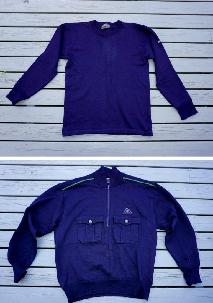 En originaltype og en blusemodell fra 1980/90 tallet. De hadde modellbetegnelsen SeaWolf i tillegg til Blaatrøie, for eksportmarkedet, ventelig. Garnt i disse er 80% ull og 20% viskose