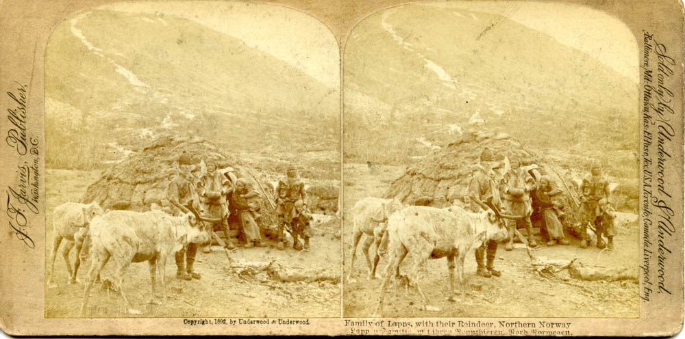"""Family of Lapps, and their Reindeer, Northern Norway"""