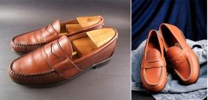 Til venstre: Allen Edmonds Cameron penny loafer. Til høgre: Dagens utgave av Aurlandsskoa (Bildet tatt fra nettstedet til fabrikken)