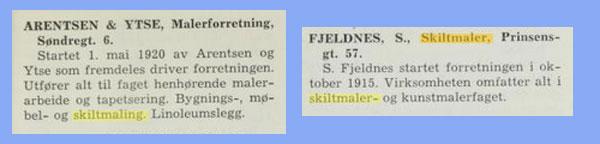 Annonser fra Det norske næringsliv, 1946.