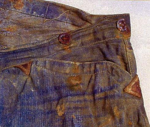 Bukse fra Greenebaum med lærsforsterking av sømmene