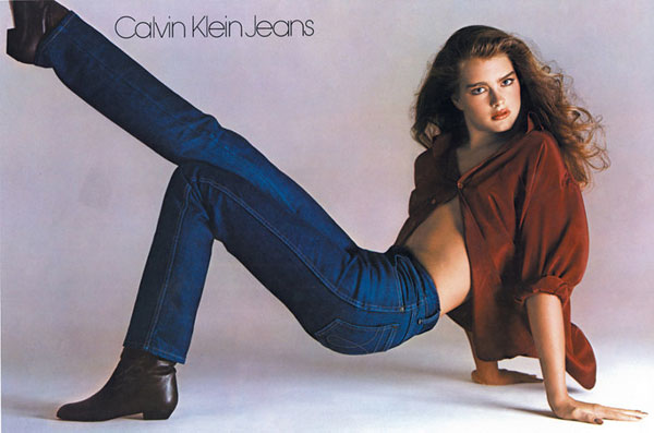 Brook Shields i reklame for Calvin Klein jeans