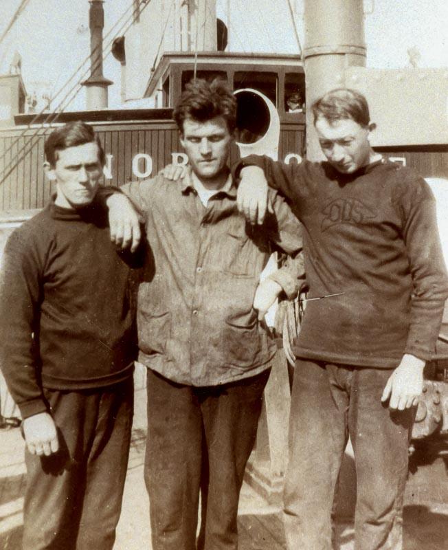 sjømenn med blaatrøier i 1920-årene