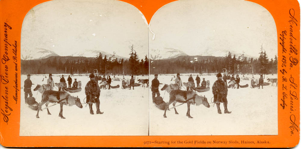 """Starting for the Gold Fields on Norway Sleds, Haines, Alaska"""